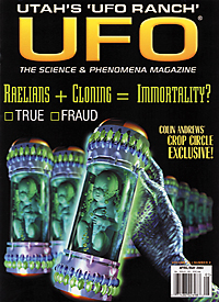 UFO Magazine cover April/May 2003 issue